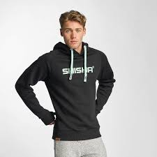 shisha overwear hoodie classic in black men reasonable price in