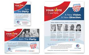election brochure political campaign brochure template election