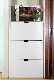 Hallway Shoe Storage Cabinet Impressive Stylish Shoe Cabinet Stylish Gloss White Shoe Storage