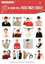 got7 on happy merry day with got7 kakao moving stickers