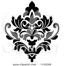 spectacular inspiration design black and white clipart of a damask 3 royalty free vector illustration by seamartini jpg