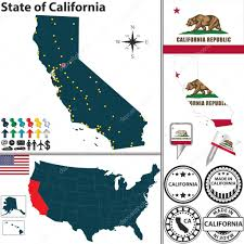 Map Of State by Map Of State California Usa U2014 Stock Vector Sateda 41377269