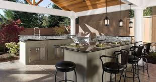 Outdoor Kitchen Ideas Stone Fireplace And Flagstone Floor For Modern Outdoor Kitchen