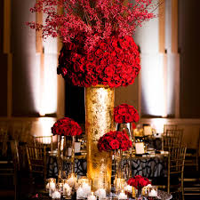 red and gold wedding table decorations house design ideas