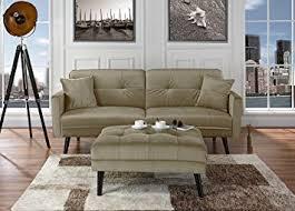 Mid Century Modern Sleeper Sofa Amazon Com Mid Century Modern Brush Microfiber Futon Sofa Bed