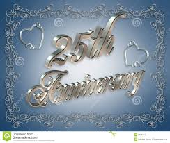 25 wedding anniversary 25th wedding anniversary invitation royalty free stock photography