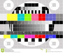 tv color test pattern stock illustration image 42674350