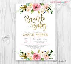invitations for brunch floral baby shower invitation brunch for baby invitation