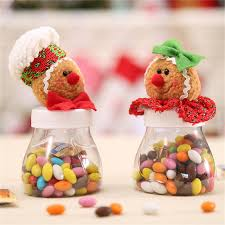 1pc christmas cookies candy sealed cans man woman transparent