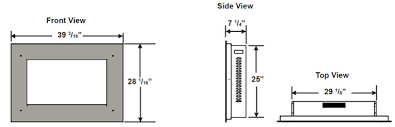 Standard Fireplace Dimensions by Standard Electric Fireplace Dimensions Electric Fireplace Heat