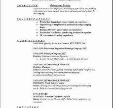 Sample Resume For Restaurant Jobs by 100 Restaurant Job Resume Assistant Restaurant Manager