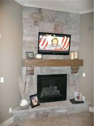 faux stone fireplace mantel shelf architecture corner gas