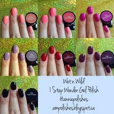a m polishes wet n wild 1 step wonder gel polish swatches part 2