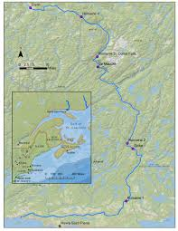 St Lawrence Seaway Map Adieu Romaine Monkey Ropes
