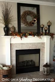 Decorating A Mantle Chic On A Shoestring Decorating Burlap Fall Mantle