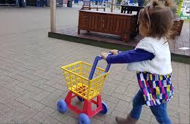 kids doing shopping ikea supermarket trolley cart youtube