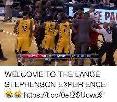 Lance Stephenson Meme - toronto 44 13 9o indiana 107 4th qtr 033 bonus pa welcome to the