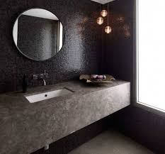 Round Bathroom Mirror by Black Round Bathroom Mirror With Mosaic Tile Texture Lestnic