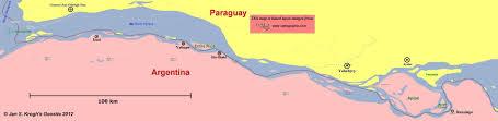 parana river map jan s krogh s geosite apipe islands and entre rios island