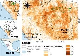 durango mexico map aboveground biomass map in durango mexico based on landsat 8