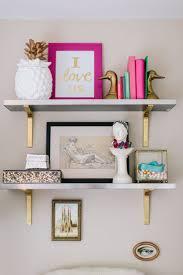 home decor etsy modern shelves brackets polished chrome shelf for wood home decor