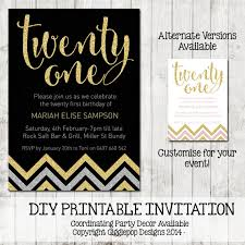 twenty first birthday invitation printable by gigglepopdesigns