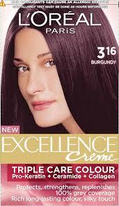 buy l u0027oreal paris excellence creme burgundy 316 72ml 100g online