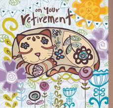 retirement card cat flowers on your retirement card karenza paperie