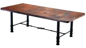 Copper Dining Room Tables by Copper Top Dining Table Uk Copper Dining Table With Slim Base