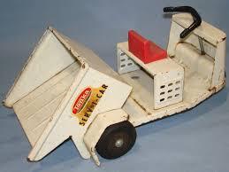 tonka white pressed steel serv i car golf cart vehicle rubber