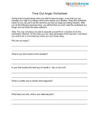 free anger worksheets lovetoknow