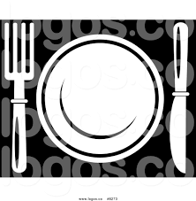 martini shaker vector royalty free vector of a black and white place setting dining logo