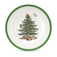 amazon com spode christmas tree bread and butter plate set of 4