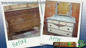 Repurposed Furniture Before And After by Before And After Antique Dresser Reuse Repurpose Upcycle