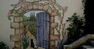 secret garden mural paris en rose