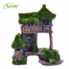 decor highline moss rock house for peceras aquarium fish