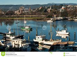 fishing boats on tamar river launceston tasmania royalty free