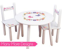 playroom table and chairs custom kids table etsy