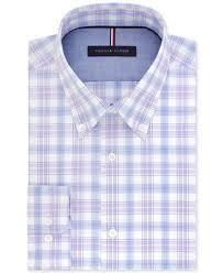 tommy hilfiger men u0027s slim fit non iron purple ash check cotton