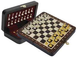 rosewood travel magnetic chess set 9 u0026 034 folding metal chess