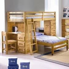 Hardwood Bunk Bed Bunk Bed With Desk And Drawers Foter