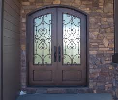 Metal Front Doors For Homes With Glass by Wrought Iron Doors Kings Building Material
