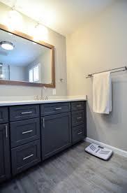 modern industrial style master bath