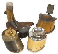 Silver Desk Accessories by Western Horse Hoof U0026 Deer Foot Desk U0026 Smoking Accessories Inkwell