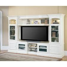 parker house hartford entertainment center in white finish for