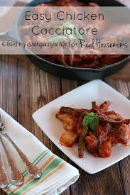 Main Dish Chicken Recipes - easy chicken cacciatore real housemoms