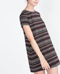 Zara Indonesia Jacquard Dress Mini Dresses Zara Indonesia Clothes
