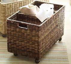 Pottery Barn Baskets With Liners Havana Recycling Bin Pottery Barn