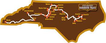 nc bed breakfast association nc bbq trail map
