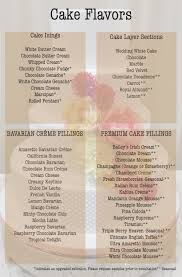 wedding cake fillings cake flavors rossmoor